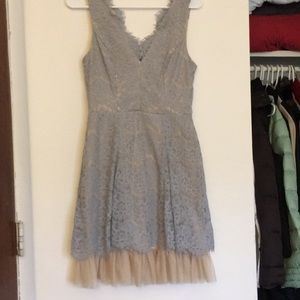 Baby blue lace and tulle dress